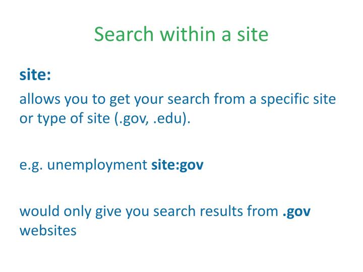 Search within a site