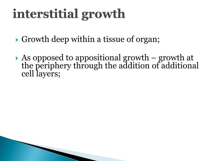 interstitial growth