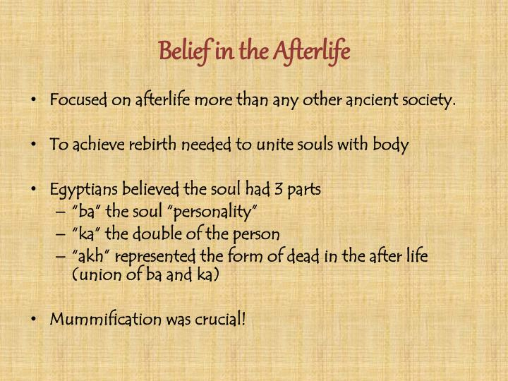 Belief in the Afterlife