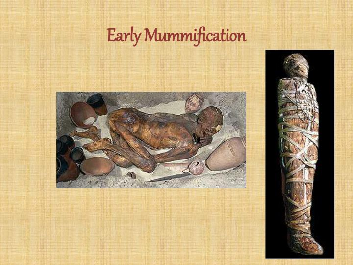 a look at the process of mummification in ancient egypt The ancient egyptians studied and continued to perfect the process of mummification for 2,000 years, holding on to the tradition well into the roman era the mummification process involved removing as much moisture as possible after taking out the internal organs.