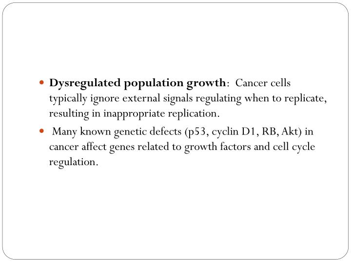 Dysregulated