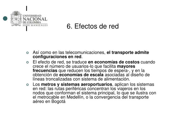 6. Efectos de red