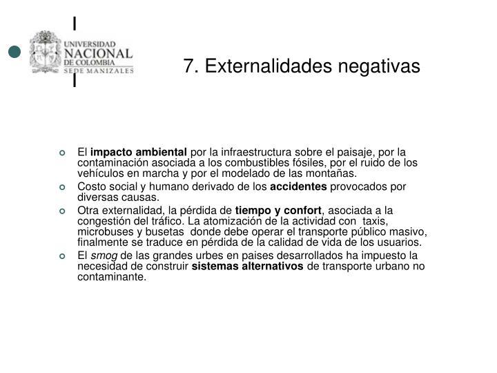 7. Externalidades negativas