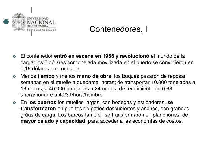 Contenedores, I