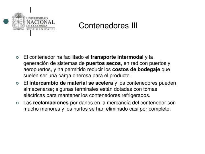 Contenedores III