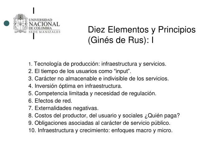 Diez Elementos y Principios (Ginés de Rus): I
