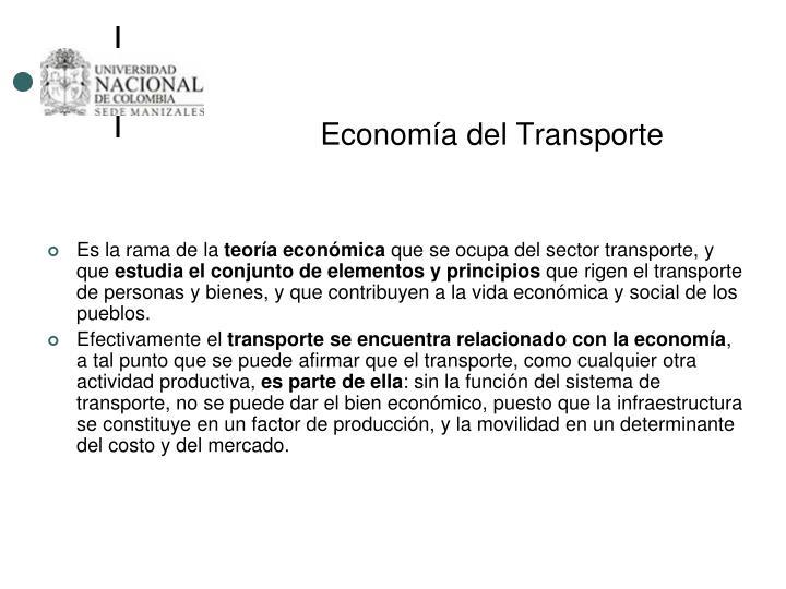 Economía del Transporte