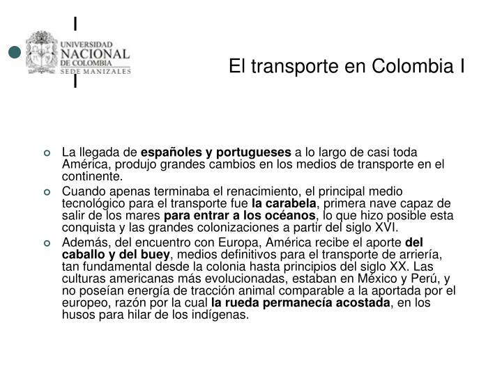 El transporte en Colombia I