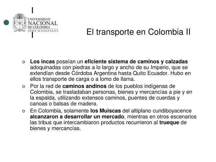 El transporte en Colombia II