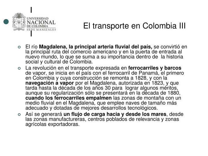 El transporte en Colombia III