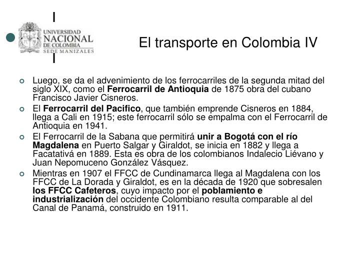 El transporte en Colombia IV