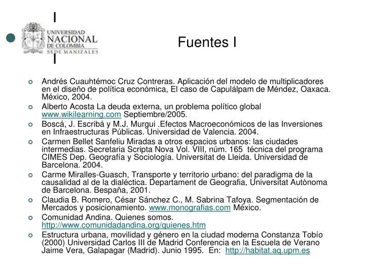 Fuentes I
