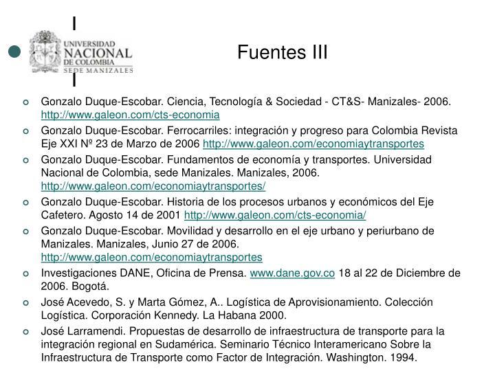 Fuentes III