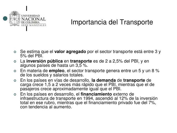 Importancia del Transporte