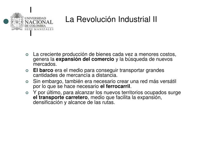La Revolución Industrial II