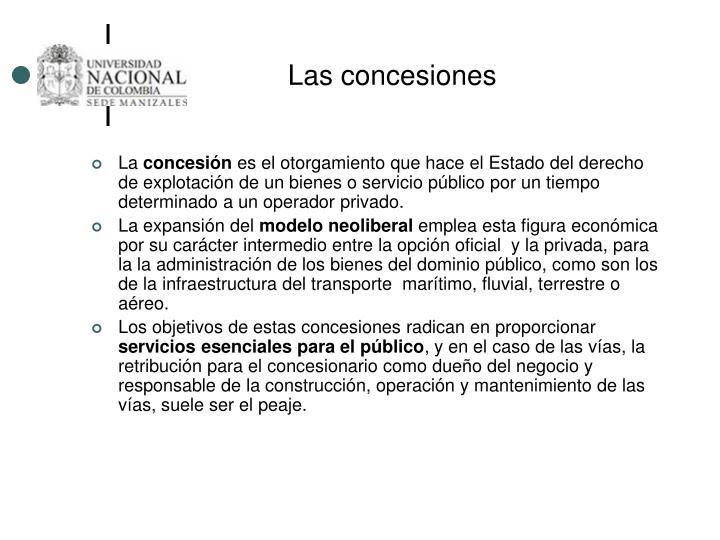 Las concesiones