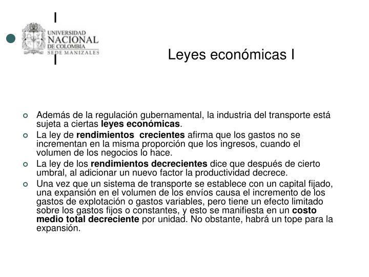 Leyes económicas I