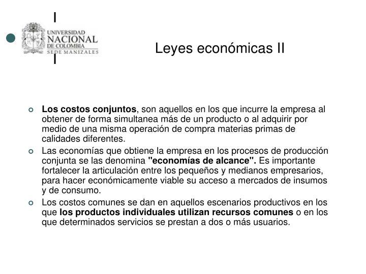 Leyes económicas II
