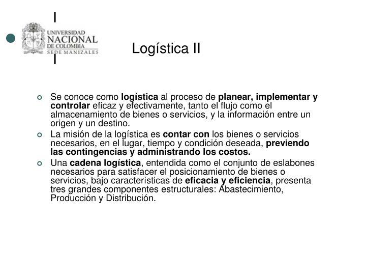 Logística II