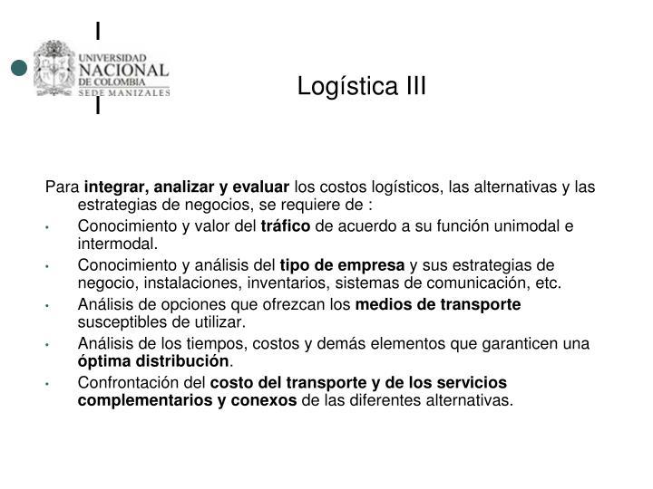 Logística III