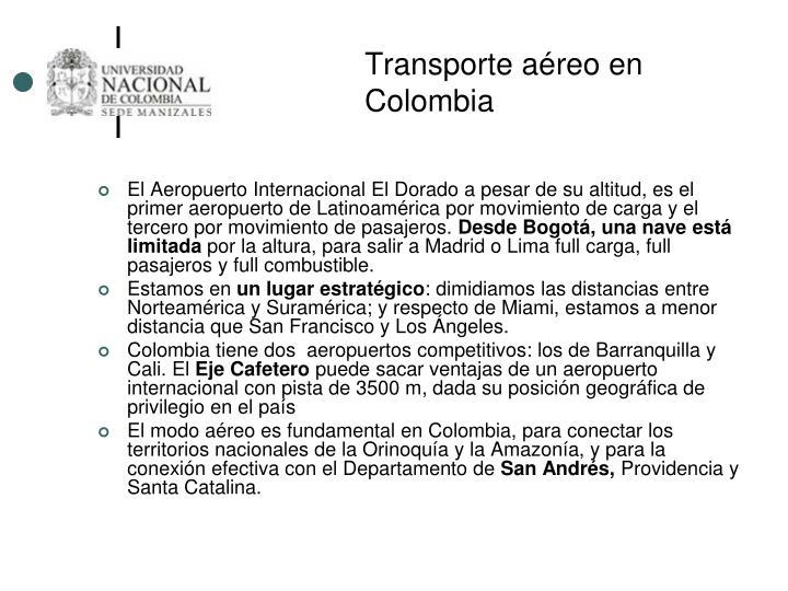 Transporte aéreo en Colombia