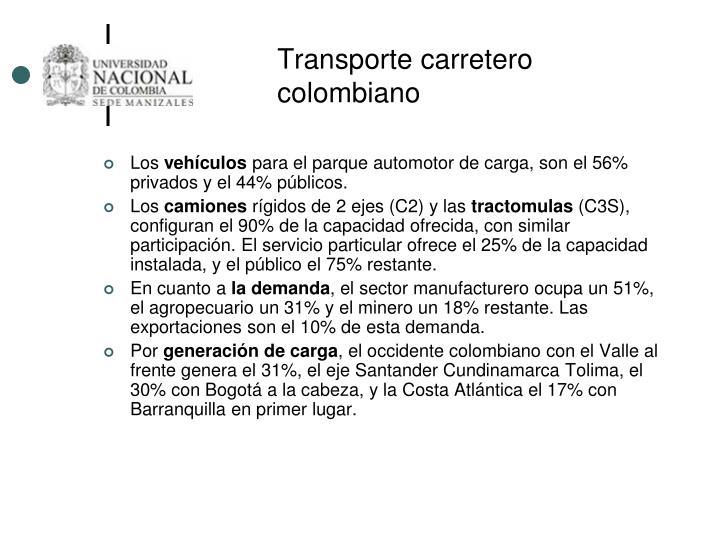 Transporte carretero colombiano