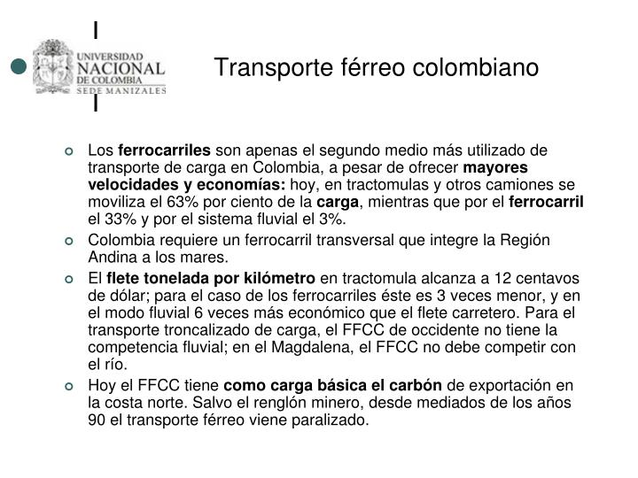 Transporte férreo colombiano