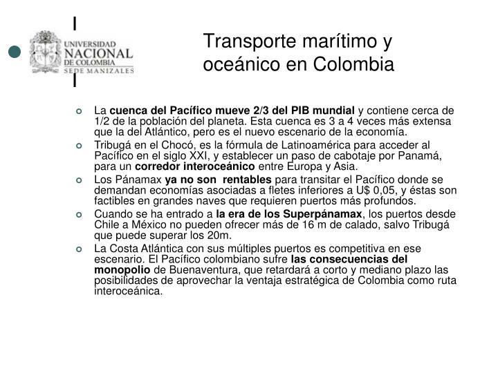 Transporte marítimo y oceánico en Colombia