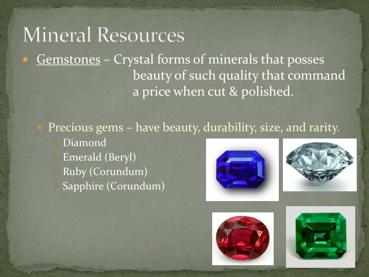 Mineral Resources