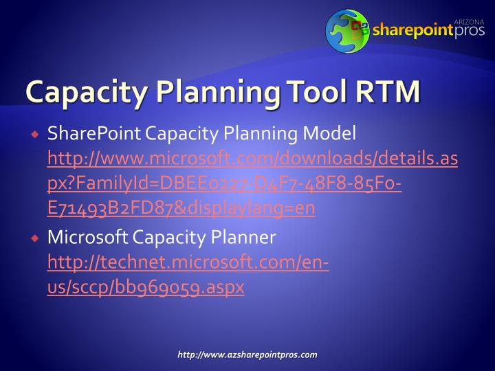 Capacity Planning Tool RTM