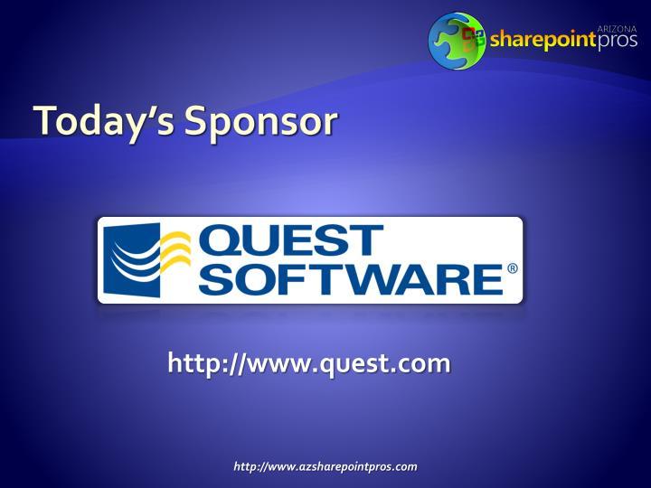 Today's Sponsor