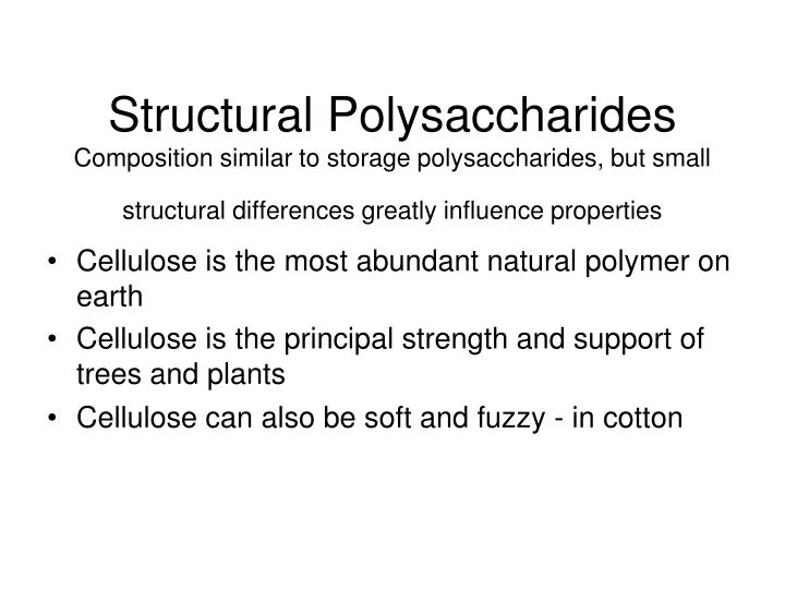 Structural Polysaccharides