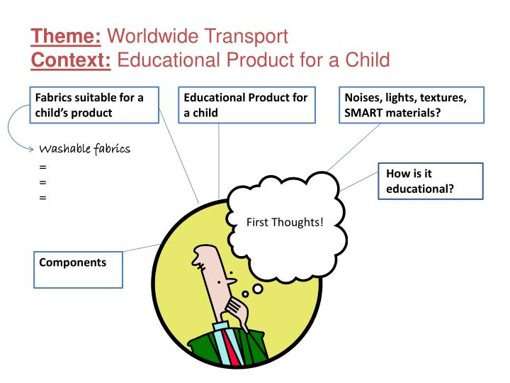 Theme worldwide transport context educational product for a child