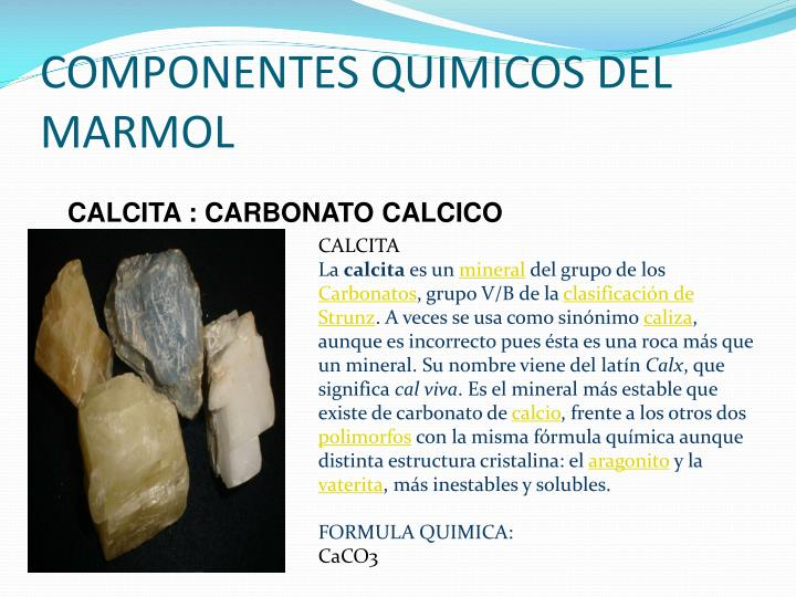 Ppt el marmol powerpoint presentation id 2026866 for Marmol mineral