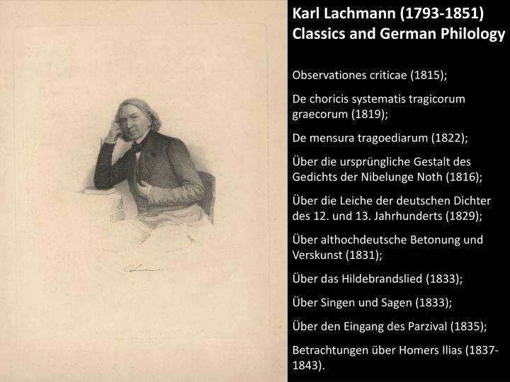Karl Lachmann (1793-1851)