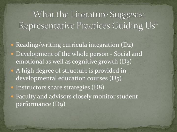 Reading/writing curricula integration (D2)