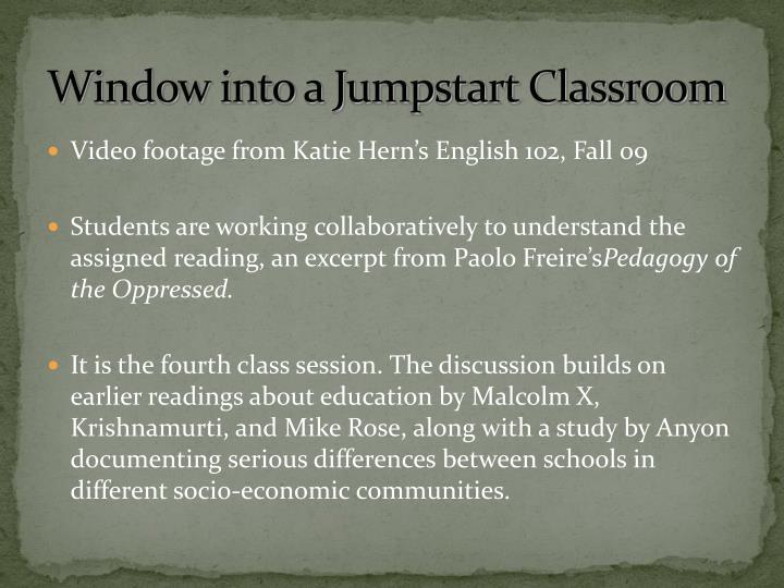 Window into a Jumpstart Classroom