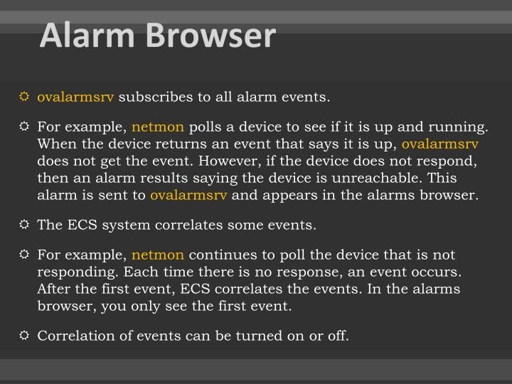 Alarm Browser