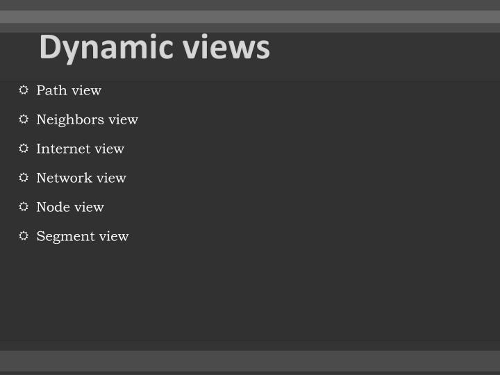 Dynamic views