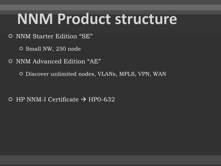 NNM Product structure