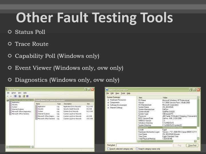 Other Fault Testing Tools