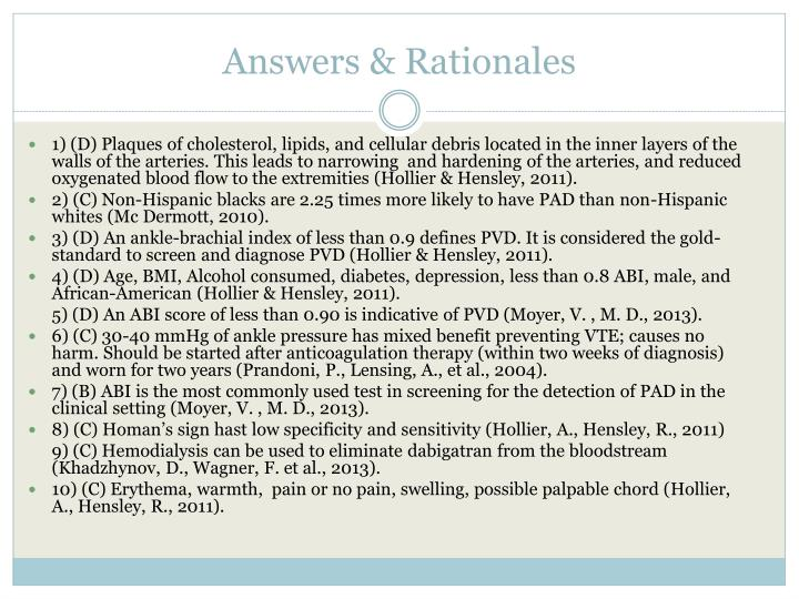 Answers & Rationales