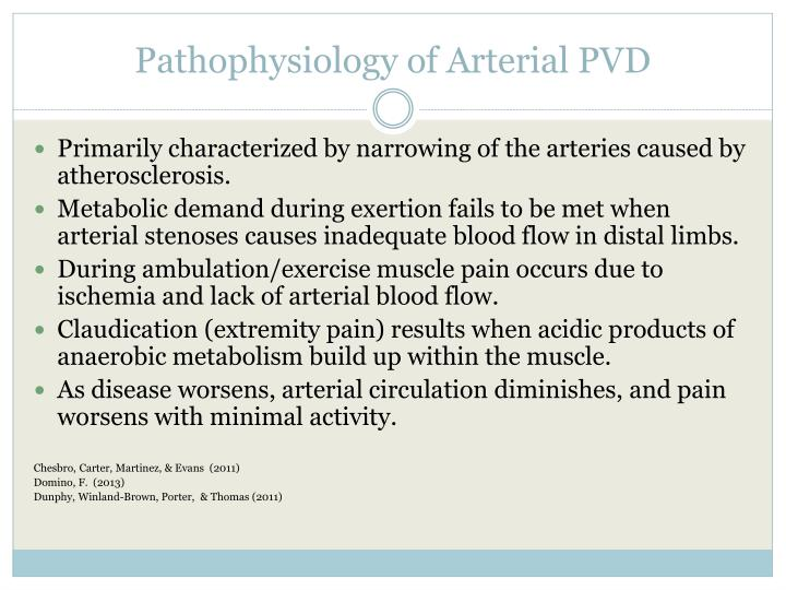Pathophysiology of Arterial PVD