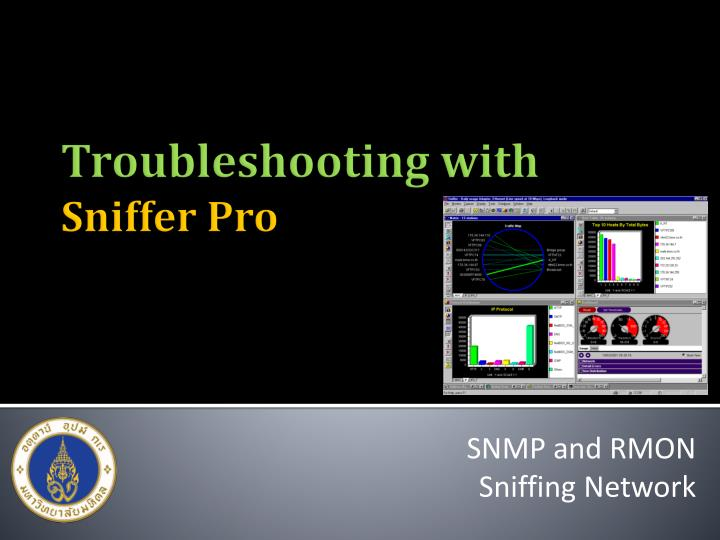 Snmp and rmon sniffing network