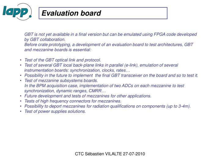 Evaluation board