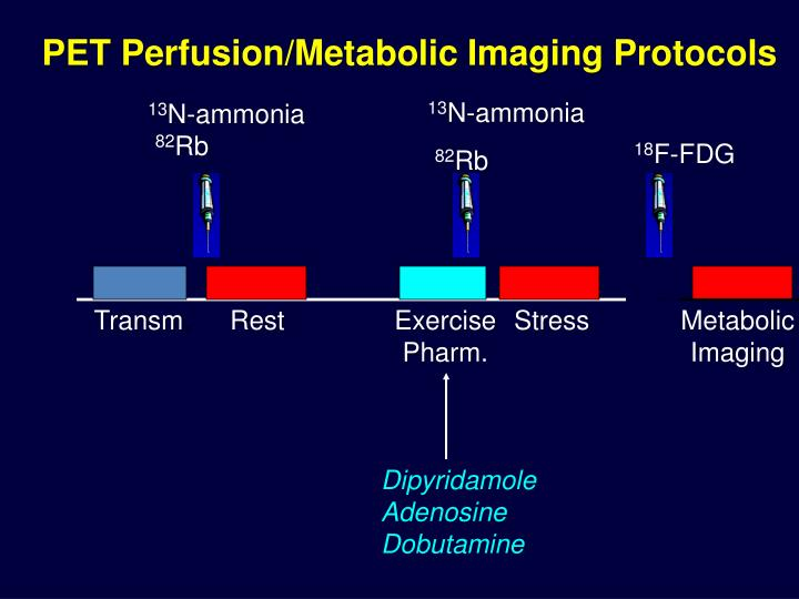 PET Perfusion/Metabolic Imaging Protocols