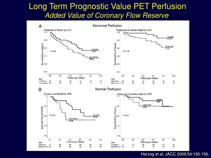 Long Term Prognostic Value PET Perfusion