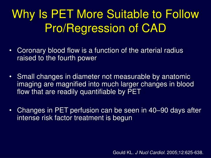 Why Is PET More Suitable to Follow Pro/Regression of CAD