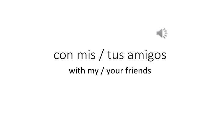 con mis / tus amigos