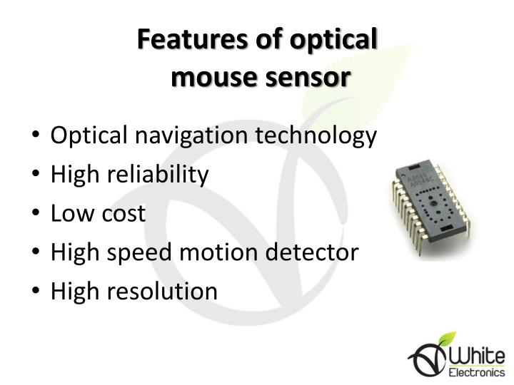 Features of optical